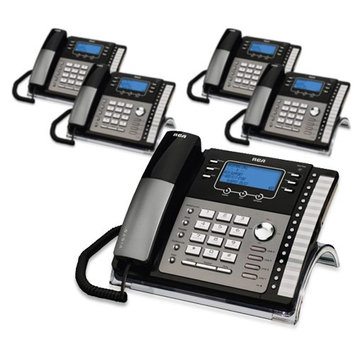 Ge/rca RCA ViSYS 25425RE1 (5-Pack) 4-Line EXP Speakerphone w/ Digital Answering System
