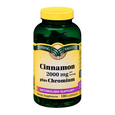 Spring Valley Cinnamon Plus Chromium Capsules 1000mg