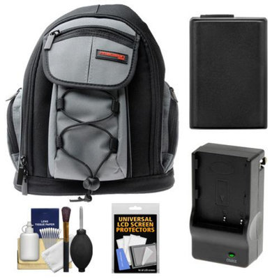 Precision Design PD-MBP ILC Digital Camera Mini Sling Backpack with NP-FW50 Battery & Charger + Accessory Kit for Sony NEX-C3, NEX-F3, NEX-5N, NEX-5R, NEX-6 & NEX-7 Cameras