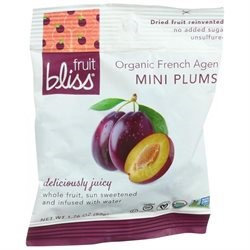 Fruit Bliss Organic Dried Plums - French Agen - Mini - 1.76 oz, (Pack of 12)