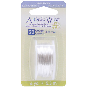 Artistic Wire Dispenser 6 Yards/Pkg Silver 20 Gauge