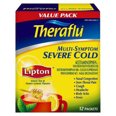 Novartis Consumer Health Theraflu Nighttime Severe Cold & Cough Pain Reliever/Fever Reducer -