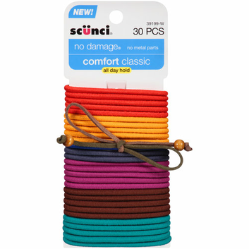 scunci No Damage Hair Elastics with Bow