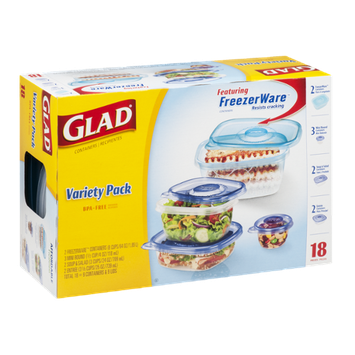 Glad Variety Pack Containers - 18 CT