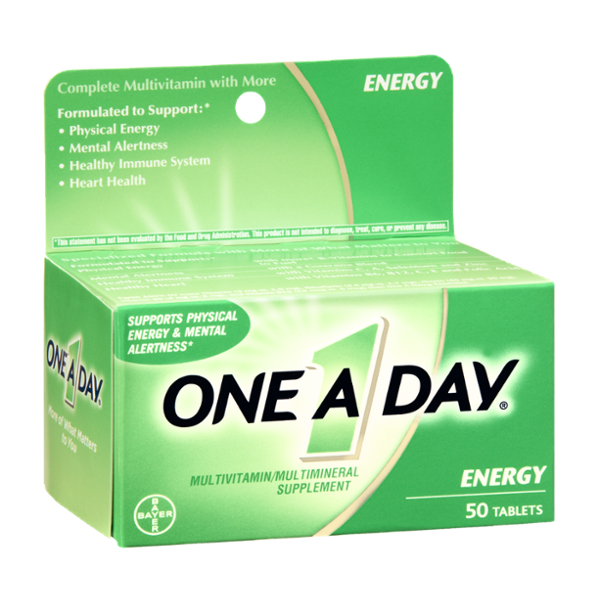 One A Day Energy Multivitamin/Multimineral Supplement Tablets - 50 CT
