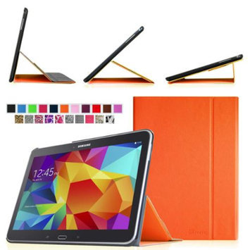 Fintie Smart Book Cover Case Supports Three Viewing Angles for Samsung Galaxy Tab 4 10.1 inch tablet, Orange