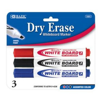 Bazic Products 1221-12 BAZIC 16 Color Broad Line Mini Washable Markers - Case of 12