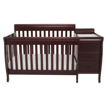 Athena Mikaila Milano Convertible Crib with attached Changer and Toddler