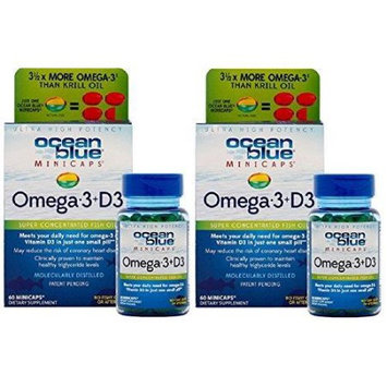 Sancilio And Company Ocean Blue Professional Omega 3 MiniCaps with Vitamin D3 Fish Oil No Fishy Taste