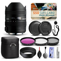 47th Street Photo Sigma 8-16mm F4.5-5.6 DC HSM Lens for Pentax (203109) with Beginner Accessories Package includes 3 Piece Filter Set (UV-CPL-FLD) + Deluxe Cleaning Kit + Air Dust Blower + Cap Keeper + $50 Prints Gift Card