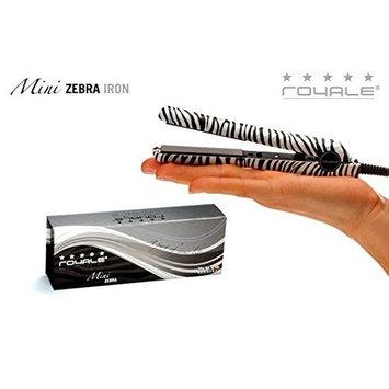 Royale Zebra Full Set / Kit - Classic Ceramic Flat Iron +Tourmaline Grande 25-18mm Curling Iron + Mini Hair Straightener