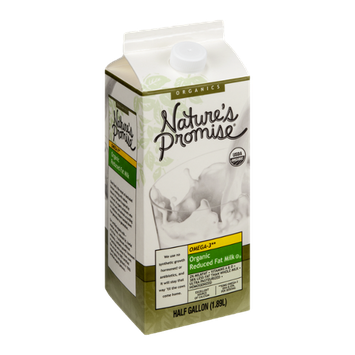 Nature's Promise Organic Reduced Fat Milk Omega-3