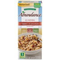Better Oats Abundance all Natural Multi-Grain Hot Cereal ~ Apples & Cinnamon Flavor ~ 5 Pouches per 7.4 oz Box (Pack of 3 Boxes)