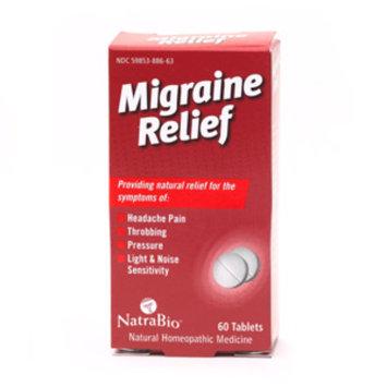 NatraBio Migraine Relief Tablets