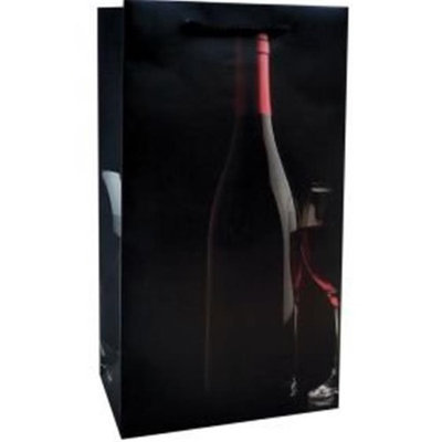 Bella Vita BVP2SILHOUETTE Printed Paper Silhouette Double Wine Bag