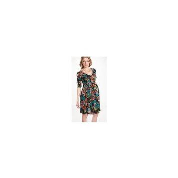 Maternal America : Scoop Neck Front Tie Dress - Citrus Floral