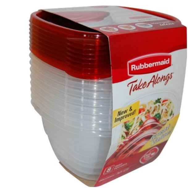Rubbermaid TakeAlongs Deep Square Storage Containers 8 pk