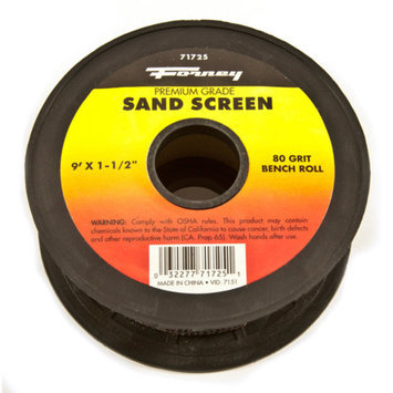 Forney 71725 Sand Screen 80 Grit 1-1/2-Inch-by-9-Foot Roll