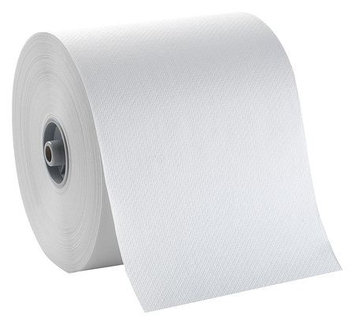 TOUGH GUY 32XR96 Paper Towel Roll,800 ft, White, PK6