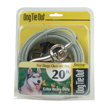 Roccorp, Inc. Large Dog Tie Out 20 Feet - extra heavy duty