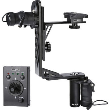 Vidpro MH-430 Professional Motorized Pan & Tilt Gimbal Head Includes: Heavy-Duty Gimbal Head 2 Geared Motors Joystick Control Cables & Case