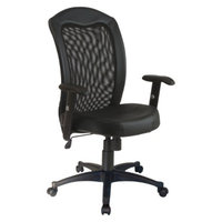 Furniture Standalone Seating: Office Star Task Chair with Mesh/Leather