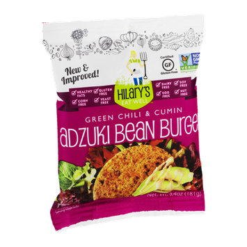 Hilary's Eat Well Green Chili & Cumin Adzuki Bean Burger Patties - 2 PK