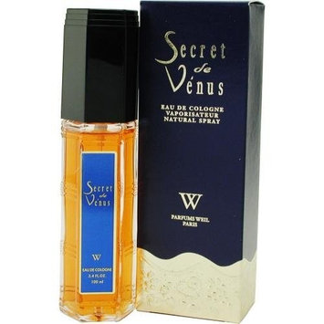 Secret De Venus By Weil Paris For Women. New Formula, Eau De Cologne Spray 3.4 Ounces
