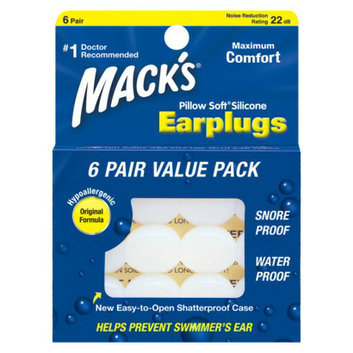 6 Boxes (36 Pairs) of Mack's Pillow Soft Silicone Earplugs
