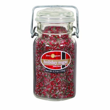 Dean Jacob's Dean Jacobs Holiday Sugar Mix-Glass Jar with Wire, 7.7-Ounce (Pack of 3)
