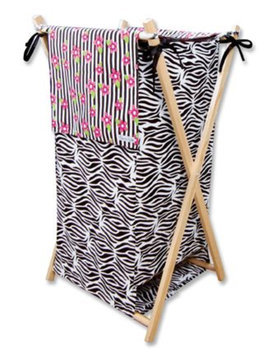 Trend Lab Zahara Zebra Collapsible Hamper - 1 ct.