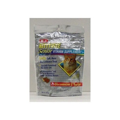 8In1 Pet Products Excel Soft & Moist Vitamin for Senior Cats, 3-Ounce Pouch