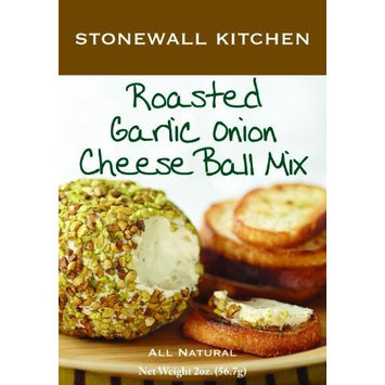 Stonewall Kitchen Roasted Garlic Onion Cheese Ball Mix, 2-Ounce Boxes (Pack of 6)