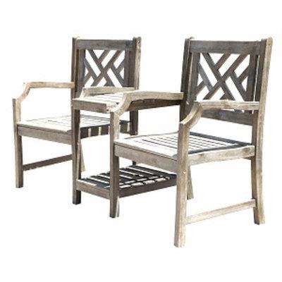 VIFAH Renaissance Atlantic Partner Armchair, Grey, 1 ea