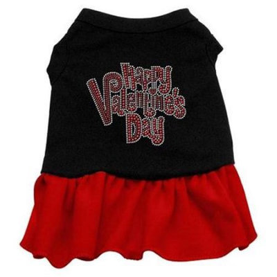 Ahi Happy Valentines Day Rhinestone Dress Black with Red Med (12)