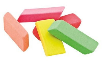 Baumgartens 74001 Neon Erasers - Pack of 20