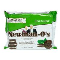 Newman's Own Organics Newman-O's Hint-O-Mint Creme Filled Mint Chocolate Cookies