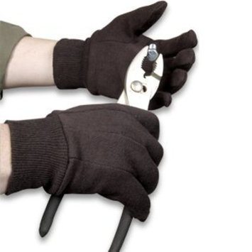 Ammex BJL Brown Jersey Gloves Large (144 pairs)