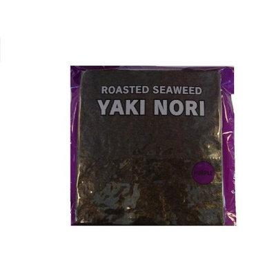 Shirakiku Yaki Nori Roasted Seawed, 50-Count Units (Pack of 2)