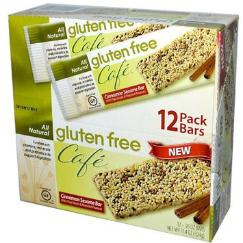 Gluten Free Cafe Gluten Free Café, Cinnamon Sesame Bar, 12 Bars, .95 oz (27 g) Each