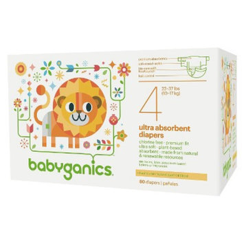 BabyGanics Diapers Value Pack - Size 4 (80 Count)
