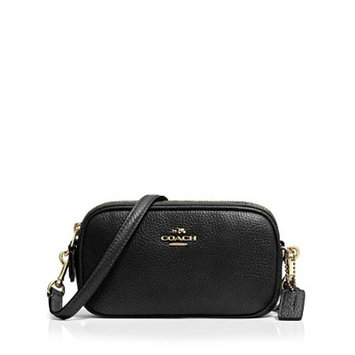 all handbags COACH Crossbody Pouch in Polished Pebble Leather
