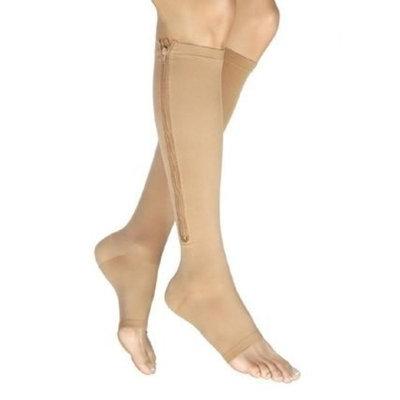 Jobst Vairox 30-40 mmHg Open Toe Knee High Support Sock with Zipper Size: Small A Short