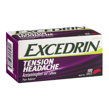 Excedrin Tension Headache Pain Reliever Caplets - 100 CT