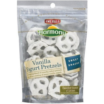 Emerald Harmony Vanilla Yogurt Pretzels, 6-Ounce Bags (Pack of 12)