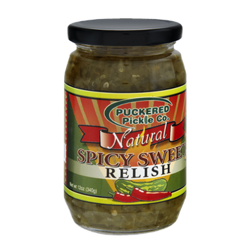 Puckered Pickle Co. Natural Spicy Sweet Relish