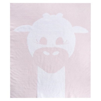 Love by Little Giraf Love Cloud Knit Giraffe Blanket - Pink