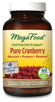 MegaFood - Pure Cranberry 500 mg. - 60 Capsules