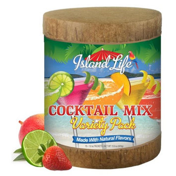 Island Life 2184037 15ct Cocktail Mix Variety Pack Eco-Canister - 6 Packs