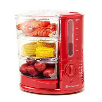 Wolfgang Puck BERFS010R 1400-Watt 3-Tier Rapid Food Steamer Red